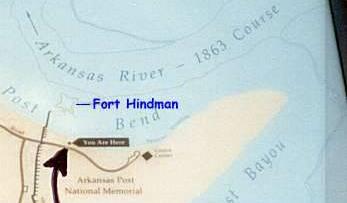 CivilWarAlbum.com Maps Site Of Fort Hindman At Arkansas Post