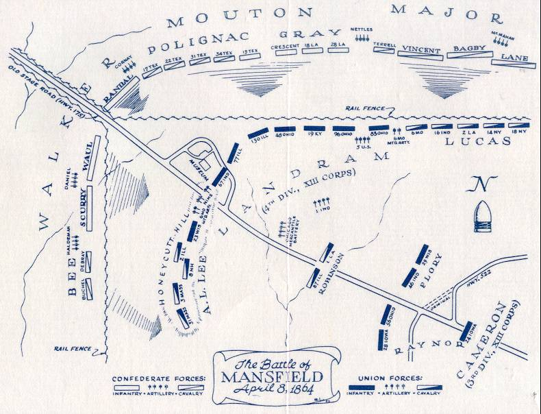 Battle of Mansfield Map