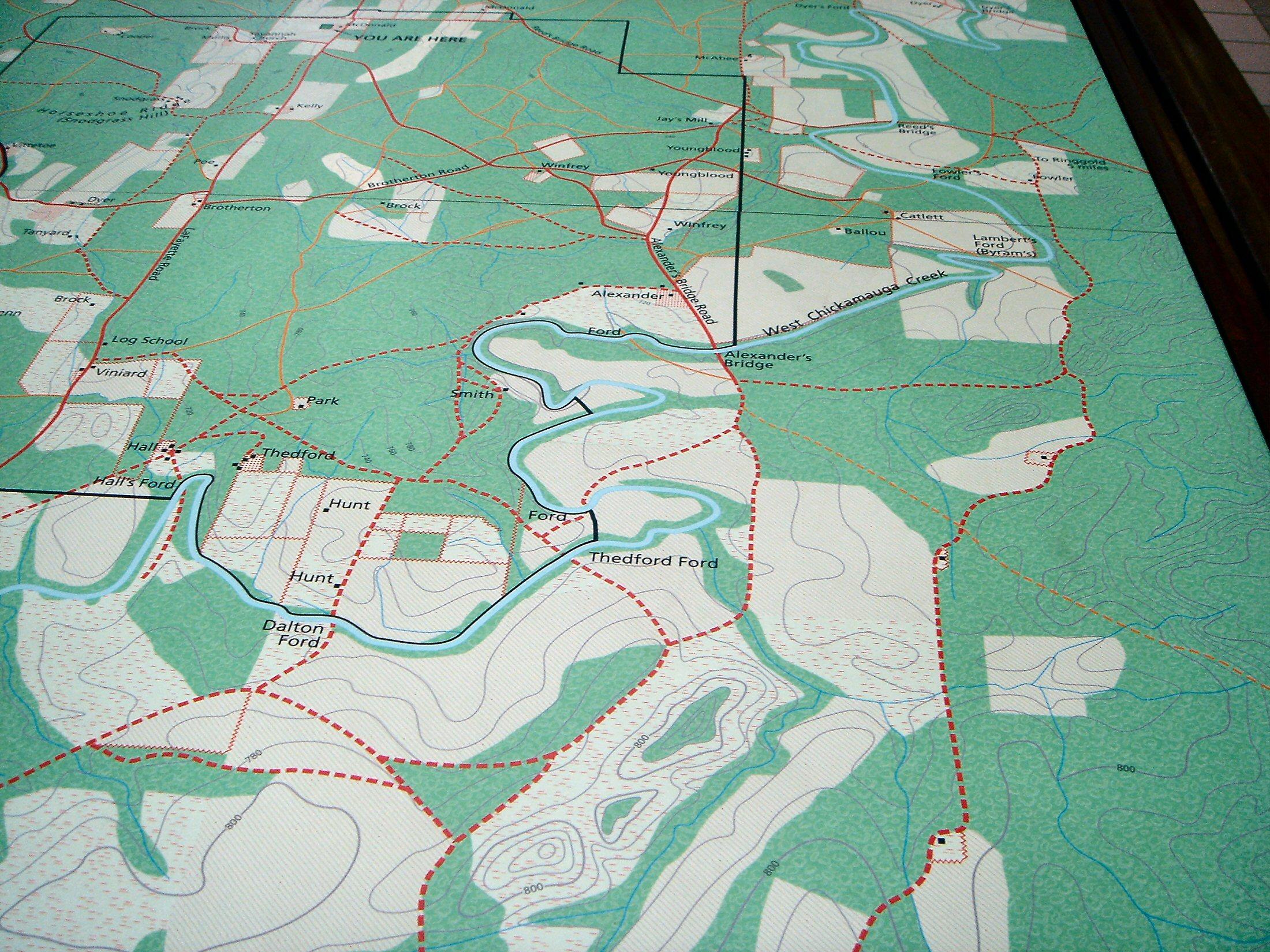 Battle Of Chickamauga Map - Battle of chickamauga map