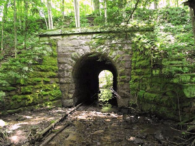 1864 stone arch culvert railroad bridge for Landscaping rocks erie pa